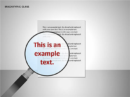 Magnifying Glass Shapes, Slide 2, 00114, Shapes — PoweredTemplate.com