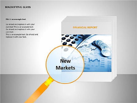 Magnifying Glass Shapes, Slide 5, 00114, Shapes — PoweredTemplate.com