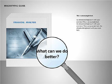 Magnifying Glass Shapes, Slide 6, 00114, Shapes — PoweredTemplate.com