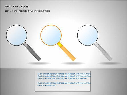 Magnifying Glass Shapes, Slide 7, 00114, Shapes — PoweredTemplate.com