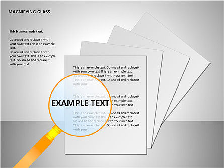 Magnifying Glass Shapes, Slide 8, 00114, Shapes — PoweredTemplate.com