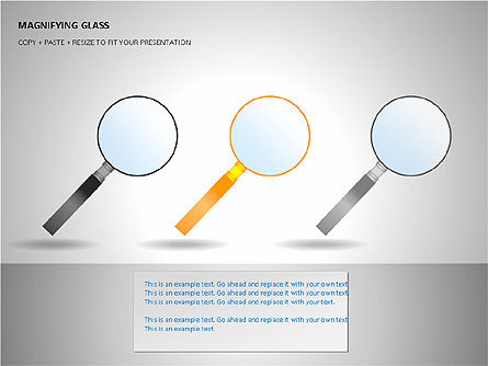 Magnifying Glass Shapes, Slide 9, 00114, Shapes — PoweredTemplate.com