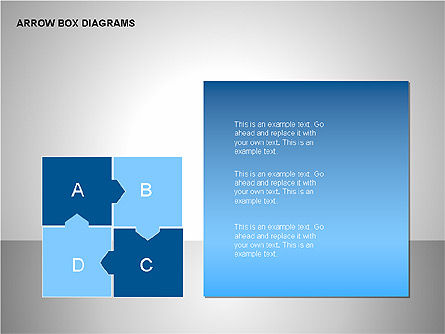 Arrow Box Diagrams, Slide 10, 00115, Puzzle Diagrams — PoweredTemplate.com
