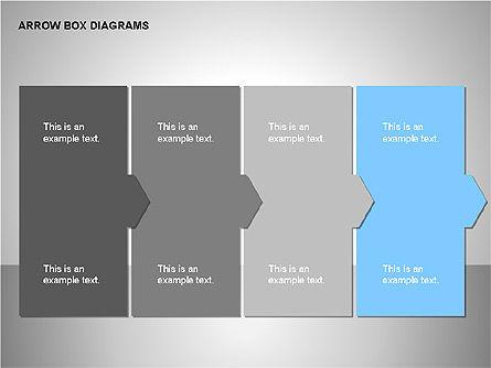 Arrow Box Diagrams, Slide 12, 00115, Puzzle Diagrams — PoweredTemplate.com