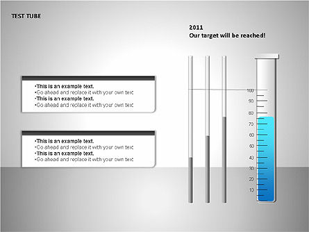 Test Tubes Charts, 00118, Stage Diagrams — PoweredTemplate.com