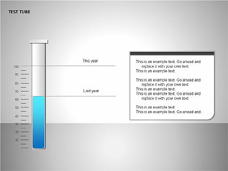 Test Tubes Charts, Slide 3, 00118, Stage Diagrams — PoweredTemplate.com