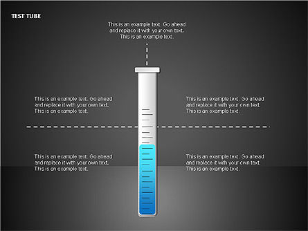 Test Tubes Charts, Slide 4, 00118, Stage Diagrams — PoweredTemplate.com