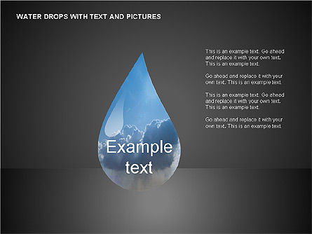 Water Drops Charts, 00120, Business Models — PoweredTemplate.com