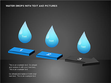 Water Drops Charts, Slide 4, 00120, Business Models — PoweredTemplate.com