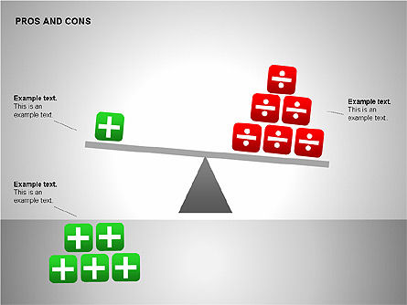 Pros and Cons Evaluation Charts, Slide 10, 00122, Business Models — PoweredTemplate.com
