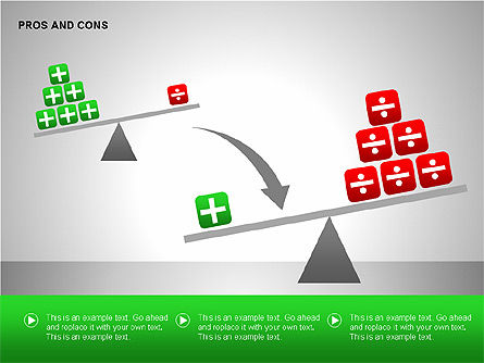 Pros and Cons Evaluation Charts, Slide 12, 00122, Business Models — PoweredTemplate.com