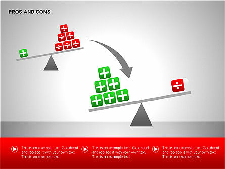 Pros and Cons Evaluation Charts, Slide 13, 00122, Business Models — PoweredTemplate.com