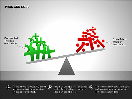 Pros and Cons Evaluation Charts, Slide 14, 00122, Business Models — PoweredTemplate.com