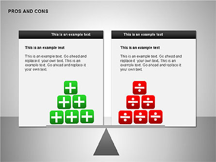 Pros and Cons Evaluation Charts, Slide 15, 00122, Business Models — PoweredTemplate.com