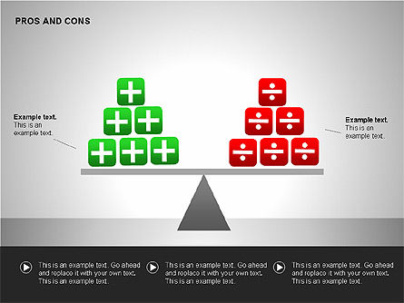Pros and Cons Evaluation Charts, Slide 3, 00122, Business Models — PoweredTemplate.com