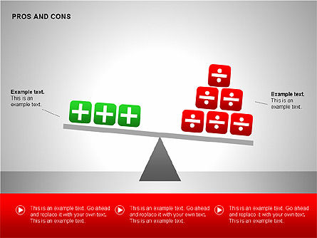 Pros and Cons Evaluation Charts, Slide 5, 00122, Business Models — PoweredTemplate.com