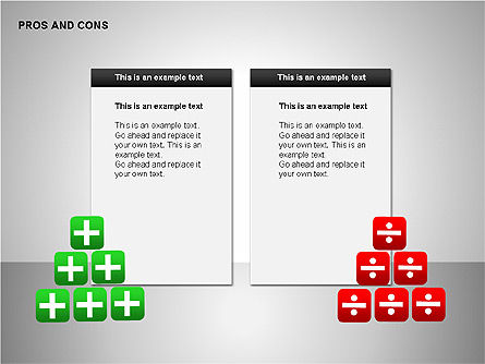 Pros and Cons Evaluation Charts, Slide 6, 00122, Business Models — PoweredTemplate.com