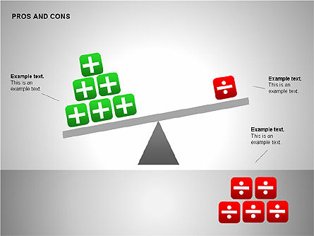 Pros and Cons Evaluation Charts, Slide 9, 00122, Business Models — PoweredTemplate.com