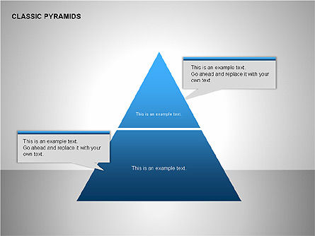 Business Pyramids Charts, 00123, Shapes — PoweredTemplate.com