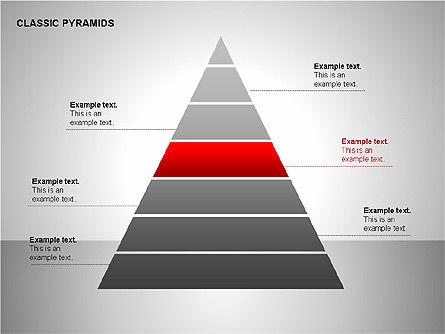 Business Pyramids Charts, Slide 10, 00123, Shapes — PoweredTemplate.com