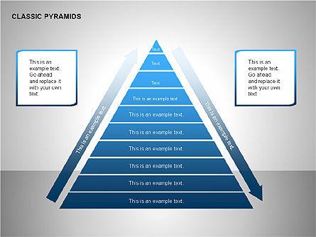 Business Pyramids Charts, Slide 13, 00123, Shapes — PoweredTemplate.com