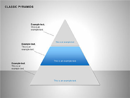 Business Pyramids Charts, Slide 3, 00123, Shapes — PoweredTemplate.com