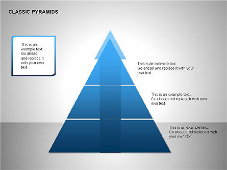 Business Pyramids Charts, Slide 4, 00123, Shapes — PoweredTemplate.com