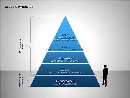 Business Pyramids Charts, Slide 8, 00123, Shapes — PoweredTemplate.com