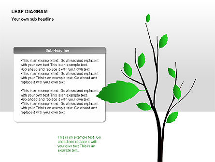 Leaf Diagrams, 00126, Timelines & Calendars — PoweredTemplate.com