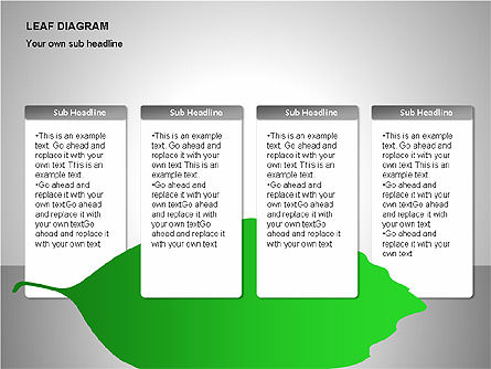 Leaf Diagrams, Slide 10, 00126, Timelines & Calendars — PoweredTemplate.com
