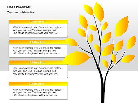 Leaf Diagrams, Slide 11, 00126, Timelines & Calendars — PoweredTemplate.com