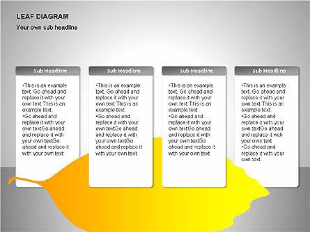 Leaf Diagrams, Slide 14, 00126, Timelines & Calendars — PoweredTemplate.com