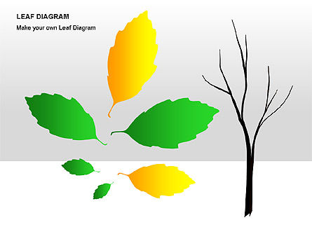 Leaf Diagrams, Slide 15, 00126, Timelines & Calendars — PoweredTemplate.com