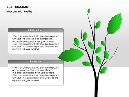 Leaf Diagrams, Slide 2, 00126, Timelines & Calendars — PoweredTemplate.com