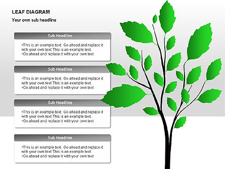 Leaf Diagrams, Slide 4, 00126, Timelines & Calendars — PoweredTemplate.com