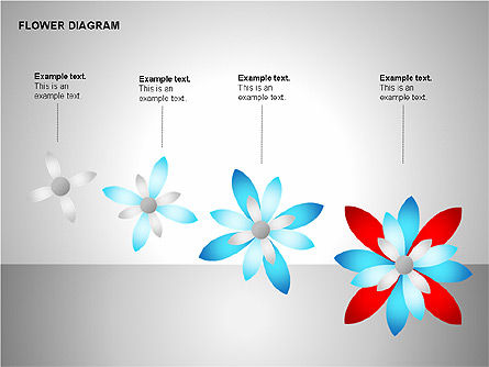 Flower Stages Diagram, Slide 9, 00128, Stage Diagrams — PoweredTemplate.com