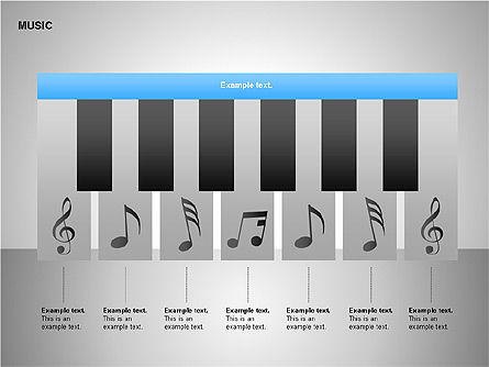 Music Shapes, Slide 10, 00129, Icons — PoweredTemplate.com