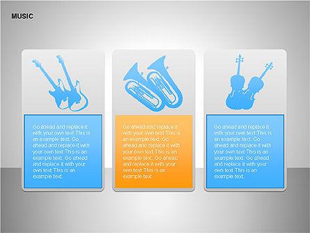 Music Shapes, Slide 13, 00129, Icons — PoweredTemplate.com