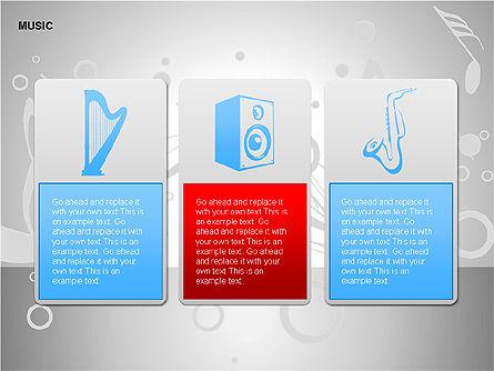 Music Shapes, Slide 14, 00129, Icons — PoweredTemplate.com