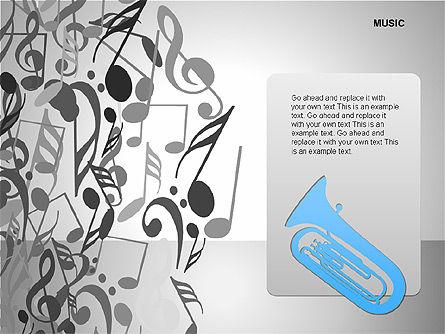 Music Shapes, Slide 15, 00129, Icons — PoweredTemplate.com