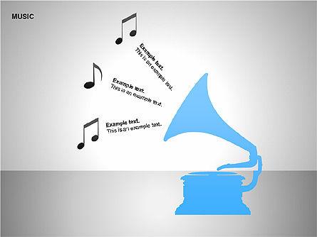 Music Shapes, Slide 2, 00129, Icons — PoweredTemplate.com
