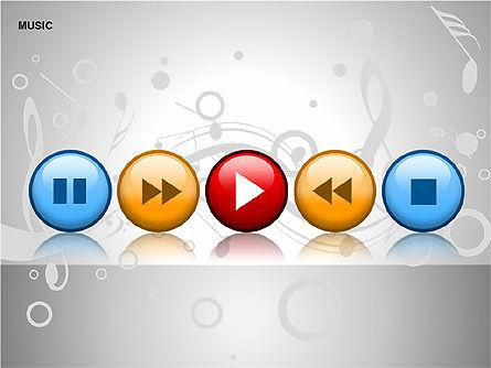 Music Shapes, Slide 4, 00129, Icons — PoweredTemplate.com