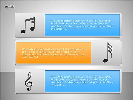 Music Shapes, Slide 5, 00129, Icons — PoweredTemplate.com