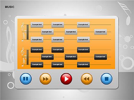 Music Shapes, Slide 6, 00129, Icons — PoweredTemplate.com