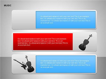Music Shapes, Slide 7, 00129, Icons — PoweredTemplate.com