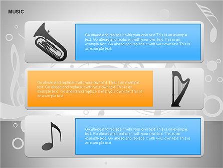 Music Shapes, Slide 8, 00129, Icons — PoweredTemplate.com