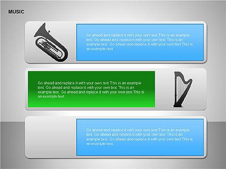 Music Shapes, Slide 9, 00129, Icons — PoweredTemplate.com