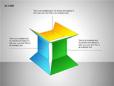 3D Cubes Collection, Slide 13, 00133, Shapes — PoweredTemplate.com