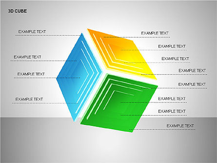 3D Cubes Collection, Slide 15, 00133, Shapes — PoweredTemplate.com
