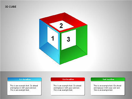 3D Cubes Collection, Slide 5, 00133, Shapes — PoweredTemplate.com